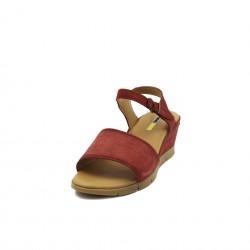 Manas sandalo con zeppa rosso