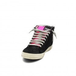 P448 sneakers black fucsia