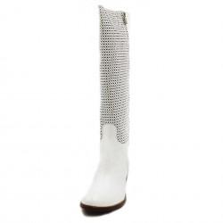 Principe di bologna stivali cortes bianco