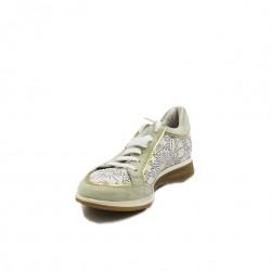 Braccialini sneakers camoscio bianco