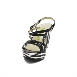Versace sandalo zeppa zebrato
