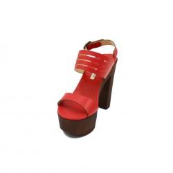 PAULA MENDEZ sandalo rosso