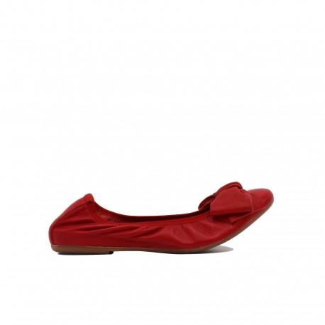 CROWN Ballerine Arricciate Rosso