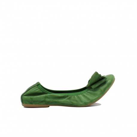 CROWN Ballerine Arricciate Verde Chiaro